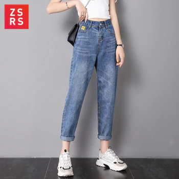 Zsrs jeans Mujer mamá pantalones vaqueros de estilo