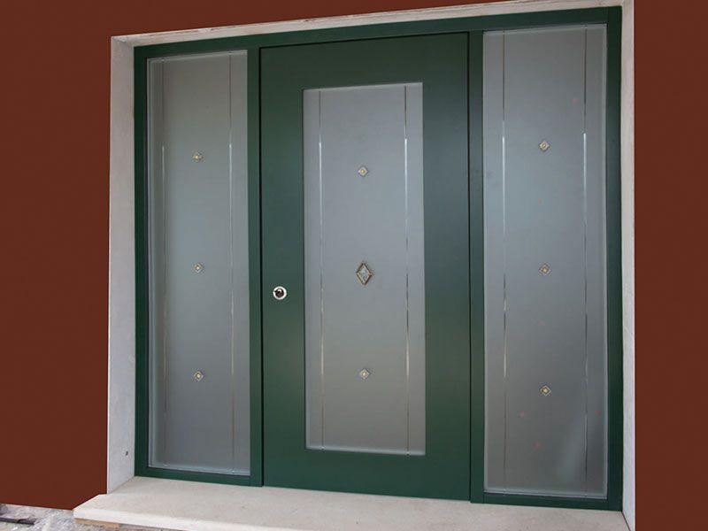 porte d 39 entr e s curis e 5 points avec 2 panneaux. Black Bedroom Furniture Sets. Home Design Ideas