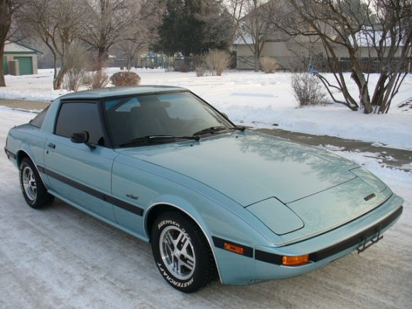 Ocean Blue 1985 Mazda RX-7 GS   http://tatjanaalic14 wixsite