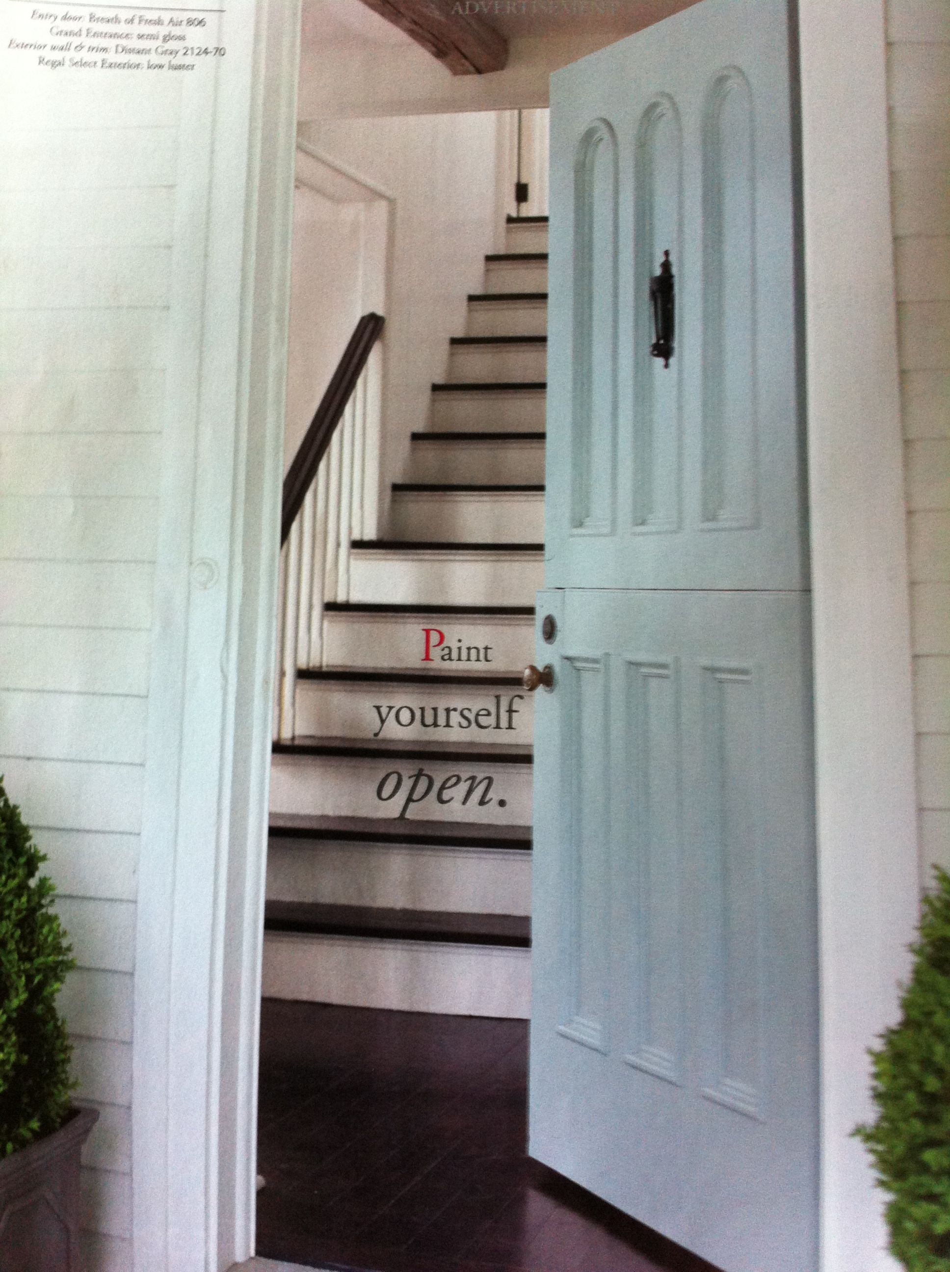 Kitchen door? Benjamin Moore Breath of Fresh Air in House