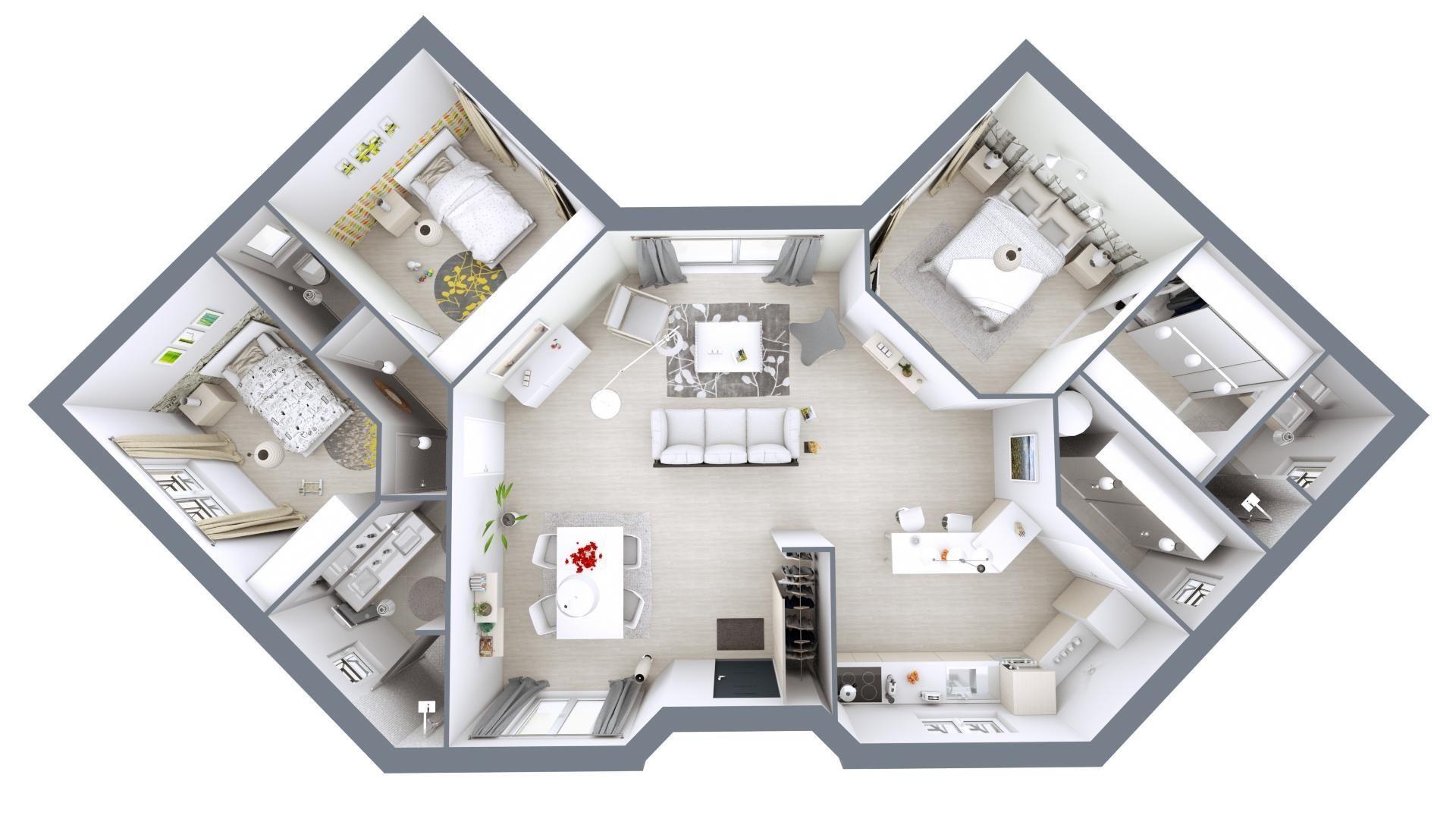 Plan De Maison Moderne modèle de maison lotus | plan maison, maison mca, plan