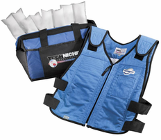 Techniche Techkewl 6626 Phase Change Cooling Vest With Inserts And Cooler Blue Cooling Vest Long Sleeve Denim Shirt Mens Clothing Styles