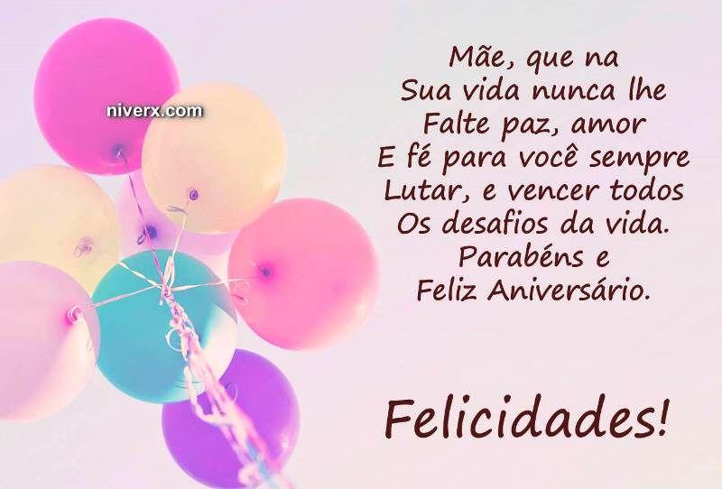 Feliz Aniversário Mãe Celular Whatsapp Facebook C42 Imagem 1