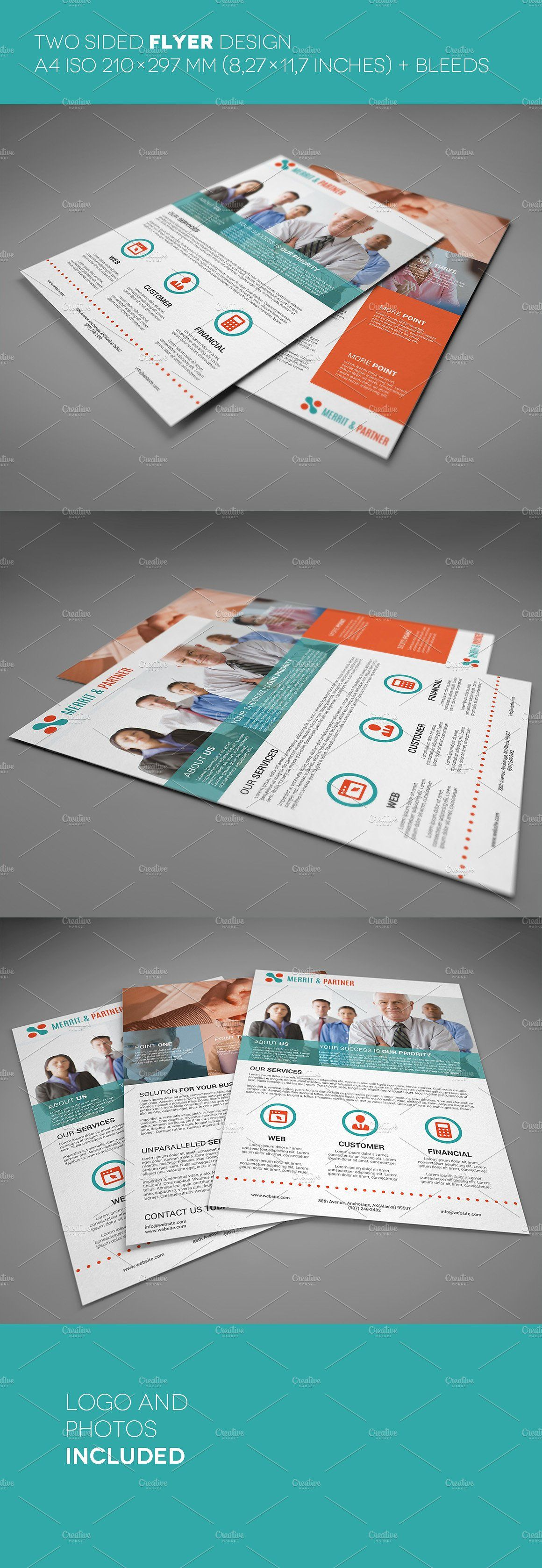 A4 Double Sided Corporate Flyer Iso