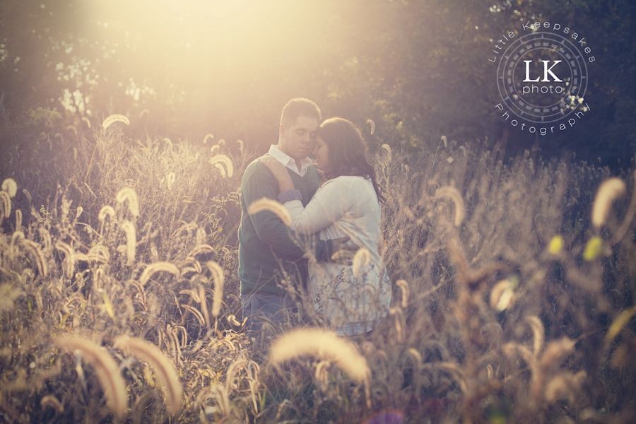 """The """"golden hour"""" for engagement pictures. Southern Illinois engagement and wedding photography. Photo by Little Keepsakes Photography. http://www.facebook.com/lkphoto85"""