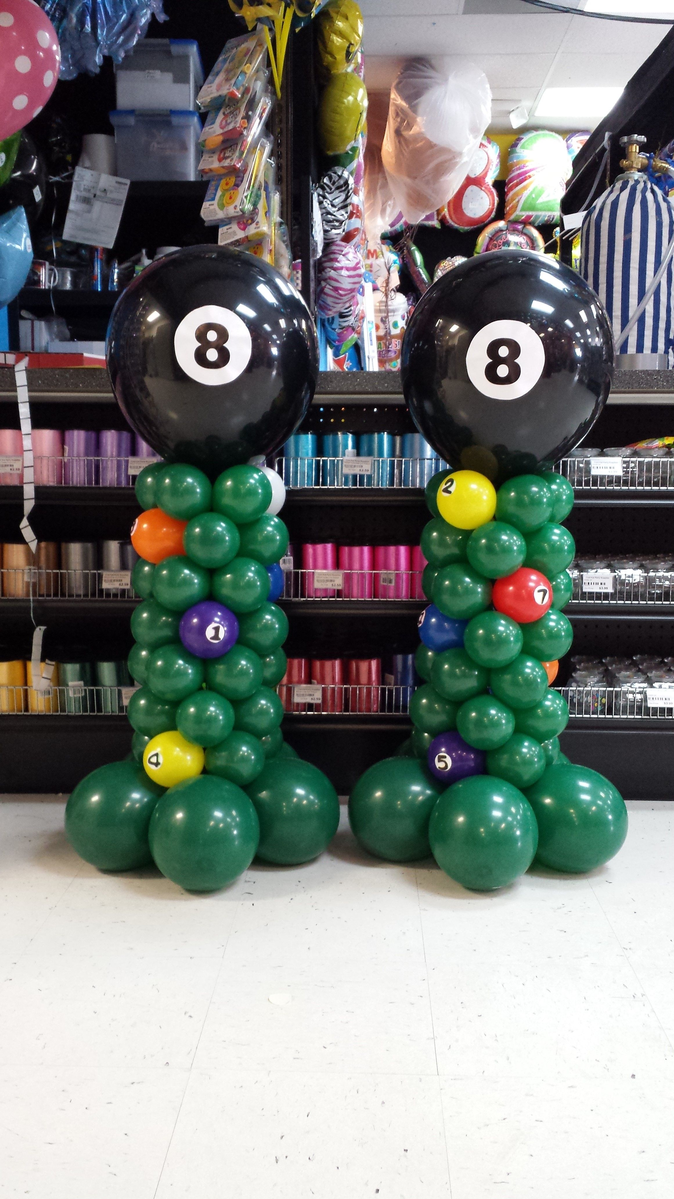 Made These For A Billiard Themed 60th Birthday Party Balloons