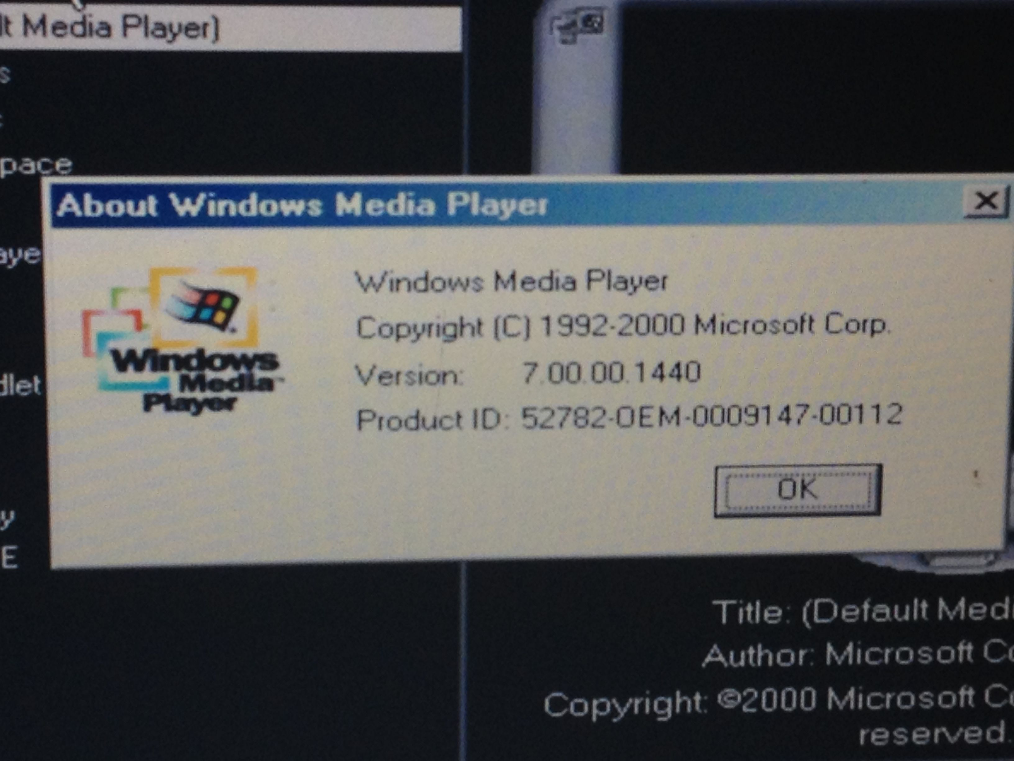 About Windows Media Player | Windows Media Player 7 | Cards against