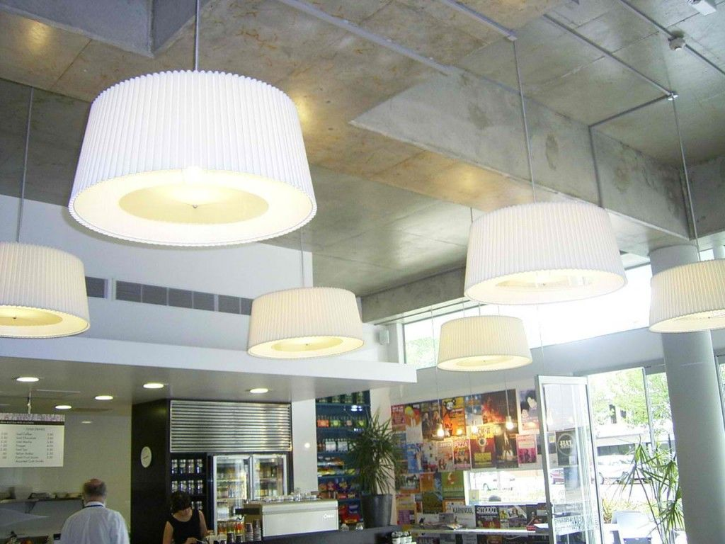 A good way to break up large ceiling voids, create decent