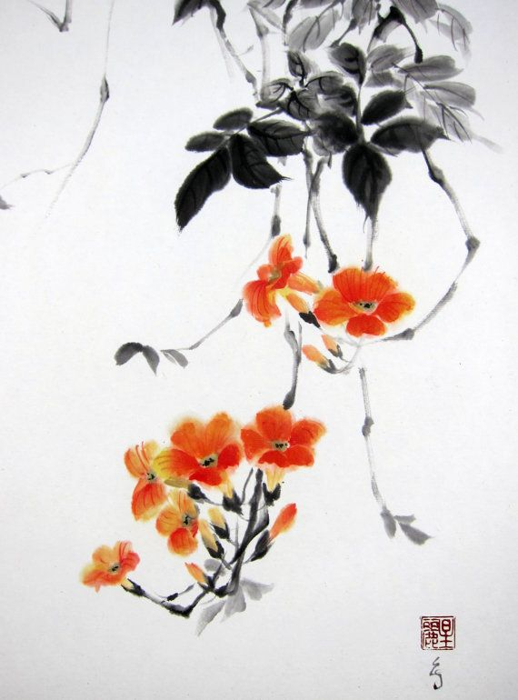 Japanese Ink Painting Japanese Art Sumi E Suibokuga Asian Art Rice