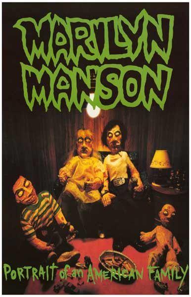 Marilyn Manson Portrait Of An American Family Music Poster 11x17 Marilyn Manson Album Cover Art Marilyn
