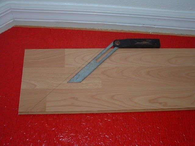 Using The Angle Finder Tool To Transfer The Angle To The Laminate