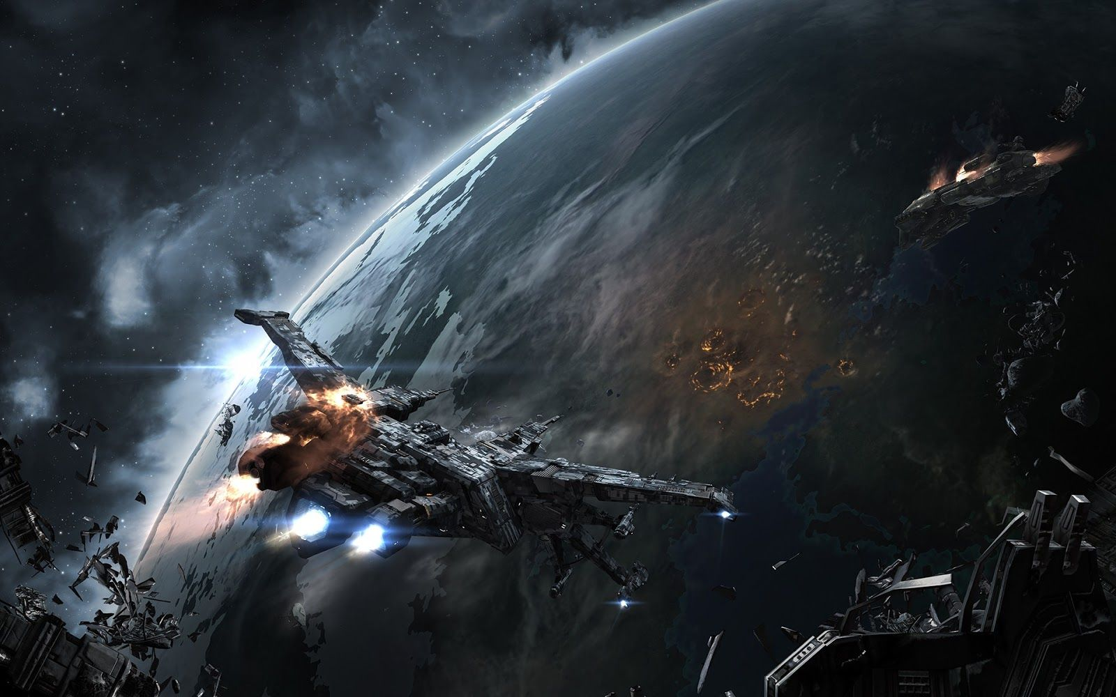Beautiful Science Fiction Eve Online Wallpaper