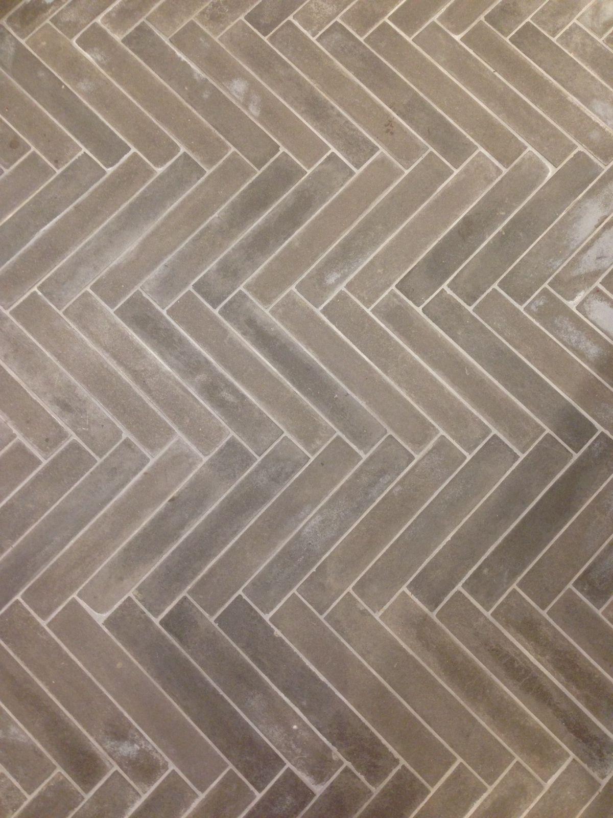 Grey Herringbone Tile Photo Of Anthropologie Floor