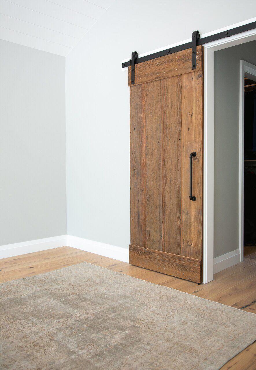 Classic Flat Track Sliding Barn Door Hardware Kit 1000 In 2020 Barn Doors Sliding Barn Door Designs Barn Door