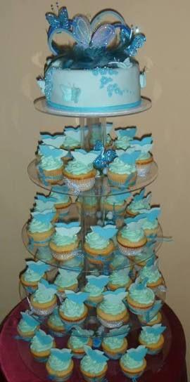 torres de cupcakes para 15 años - Buscar con Google