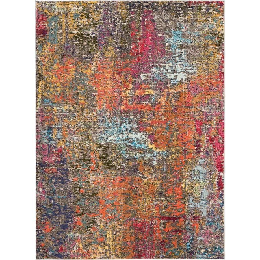 Nourison Celestial Sunset Rectangular Indoor Machine Made Area Rug Common 5 X 8 Actual 5 3 Ft W X 7 3 Ft L In 2020 With Images Abstract Rug Area Rugs Orange Area Rug