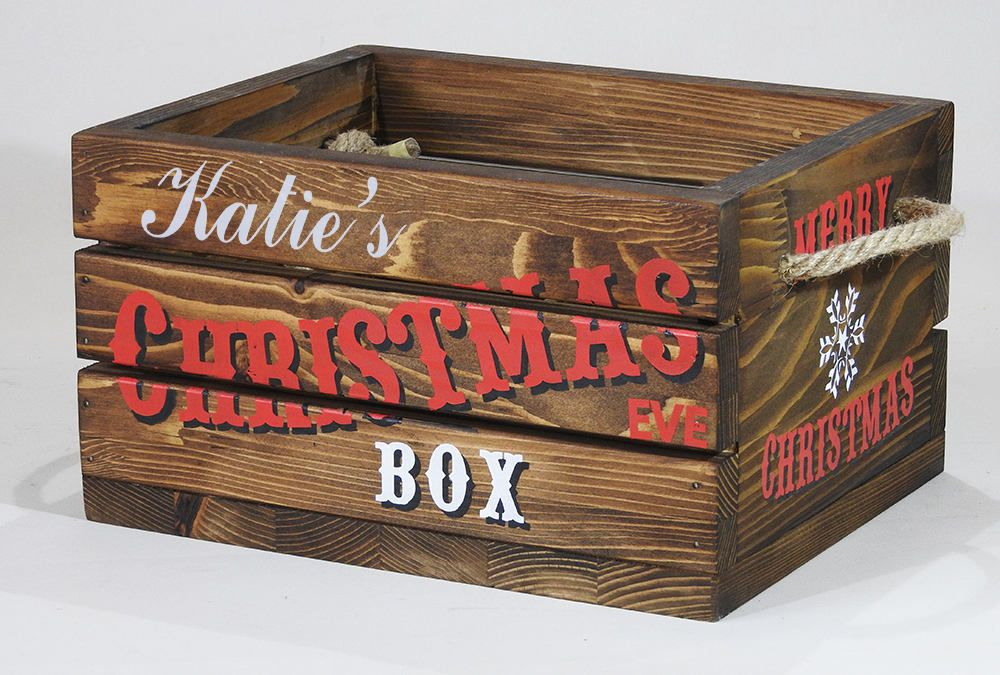 Christmas eve box with lid christmas eve crate