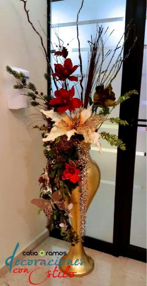 Arreglo floral navide o 2014 decoraci n navide a - Decoracion navidena 2014 ...