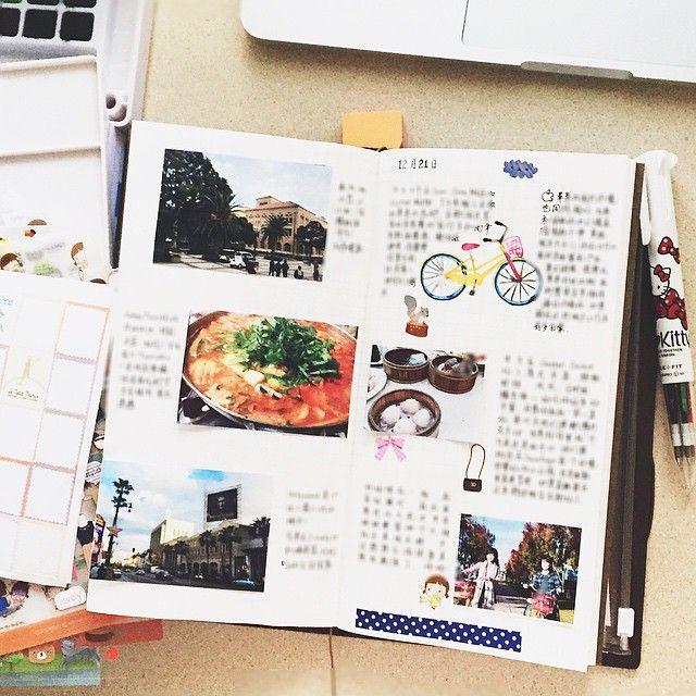 12.17-12.21  #travelersnote #travelersnotebook #手帳 #文房具 #journal #diary #midoritravelersnotebook #doodle #stationery