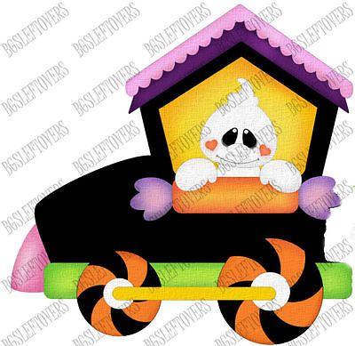 s halloween train scrapbook embellishment tb843m paper piecings rh pinterest com Halloween Background Clip Art Halloween Cartoon Clip Art Silloutte