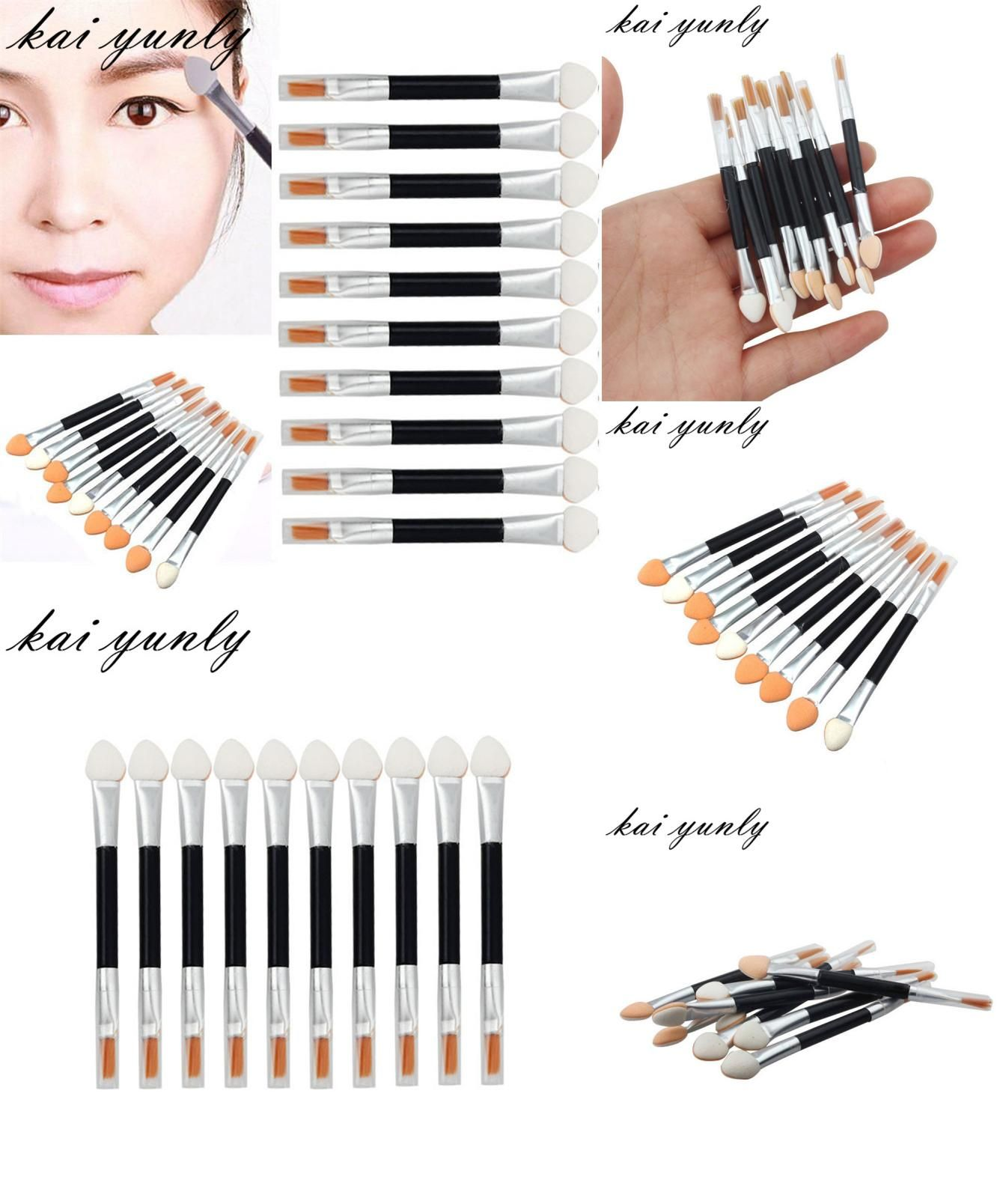 [Visit to Buy] 10PCS Makeup Brushes Tool Sponge Applicator