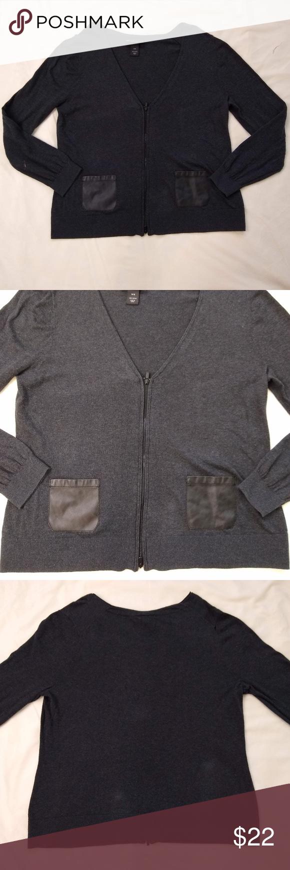 Photo of Lane Bryant | V-Neck Cardigan Sweater Lane Bryant dark gray v-neck cardigan zipp…