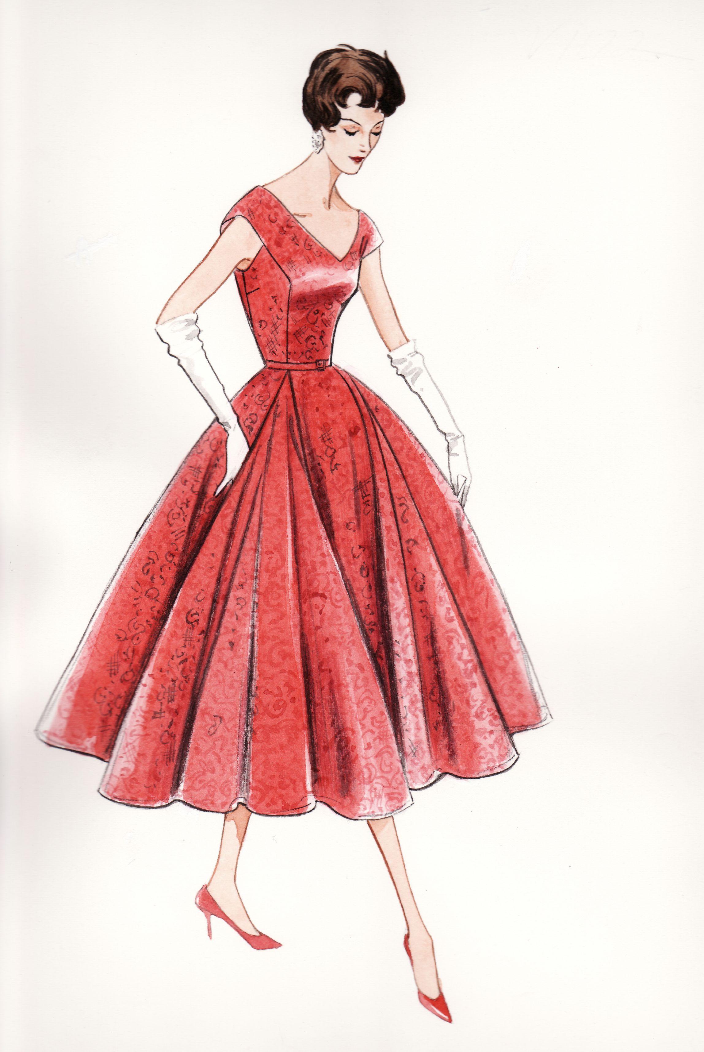 Fashion illustration for Butterick's Vintage Vogue. -Lamont O'Neal