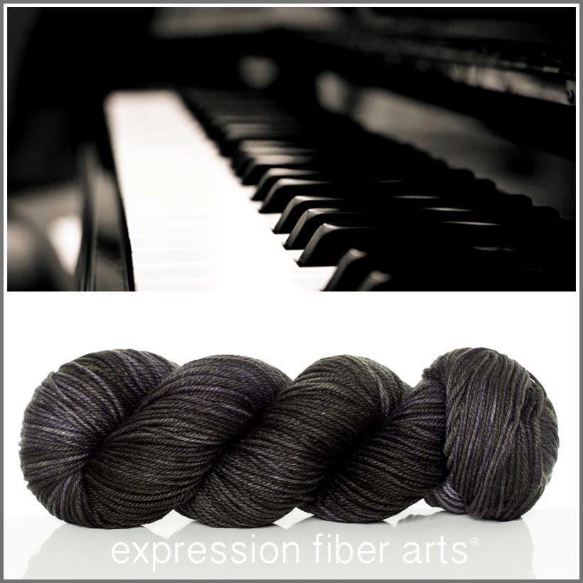 Expression Fiber Arts, Inc. - EBONY SUPERWASH DEWY DK yarn - pure black, $23.00 (http://www.expressionfiberarts.com/products/ebony-superwash-dewy-dk.html)