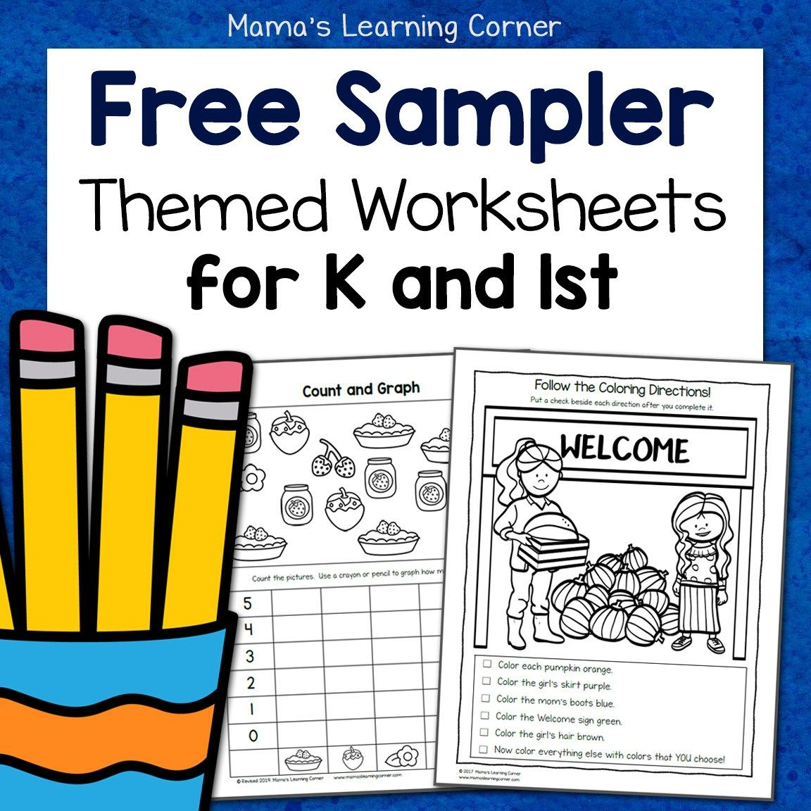 Free Kindergarten And First Grade Worksheet Sampler Packet First Grade Worksheets Kindergarten Worksheets Kindergarten Worksheets Printable [ 1152 x 1152 Pixel ]