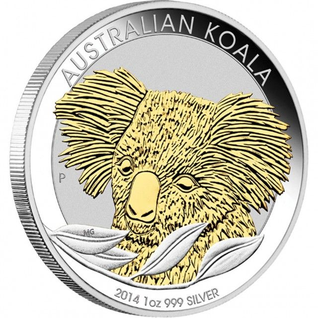 Australian Koala 2014 1oz Silver Gilded Edition Silver Bullion Silver Coins Buy Silver Coins