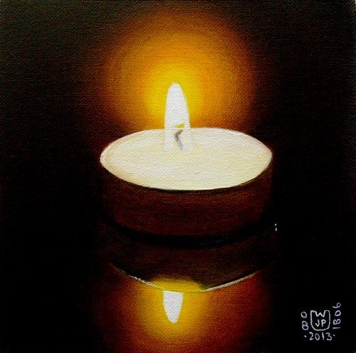 """Tea light"" - Original Fine Art for Sale - © Jean Pierre Walter"