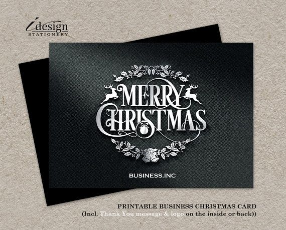 Business christmas cards printable holiday thank you cards elegant business christmas cards printable corporate holiday cards elegant company christmas greetings card metallic merry christmas xmas cards by m4hsunfo
