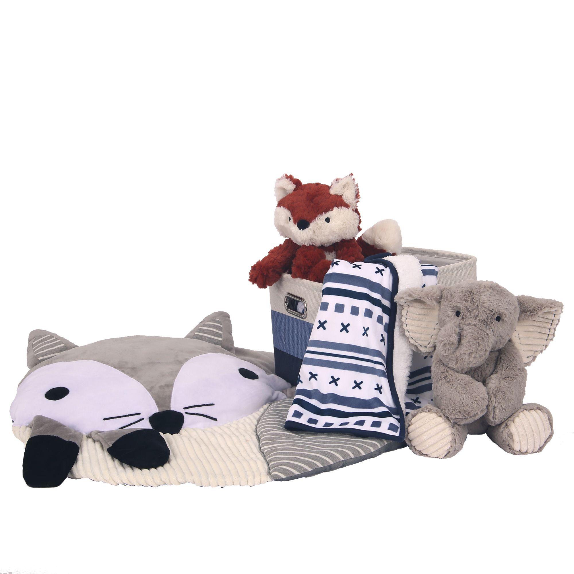 Blue 5-Piece Baby Gift Basket for Baby Shower/Newborn ...