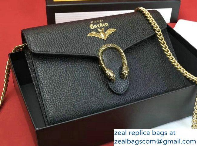 9966354395c Gucci Garden Dionysus Mini Chain Wallet Bag 516920 Bat Black 2018 ...