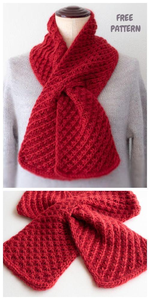 Knit Cherry Pie Scarf Free Knitting Pattern