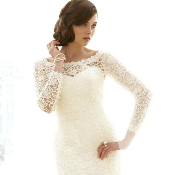 Lace Long Sleeve Wedding Dresses For a Fall or Winter Wedding ...