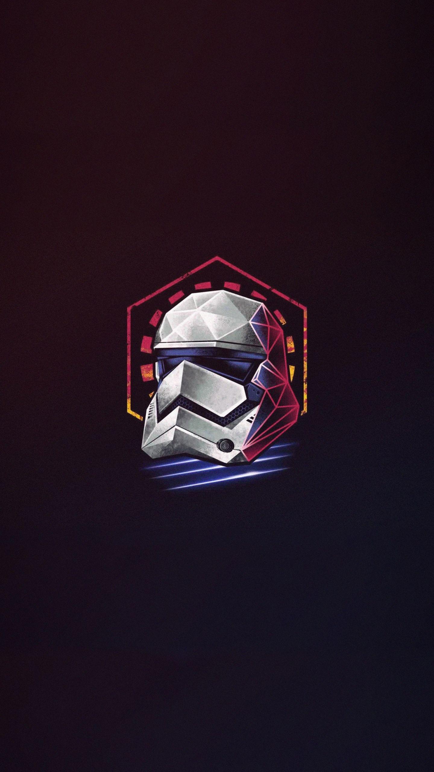 Download 1440x2560 Wallpaper Minimal Star Wars Stormtrooper Helmet Artwork Qhd Samsung Galaxy S6 In 2020 Star Wars Helmet Cool Wallpapers For Phones Stormtrooper