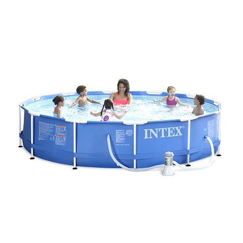Intex Metal Frame Pool With Pump 12 X 30 Intex Outdoor Fun Pool