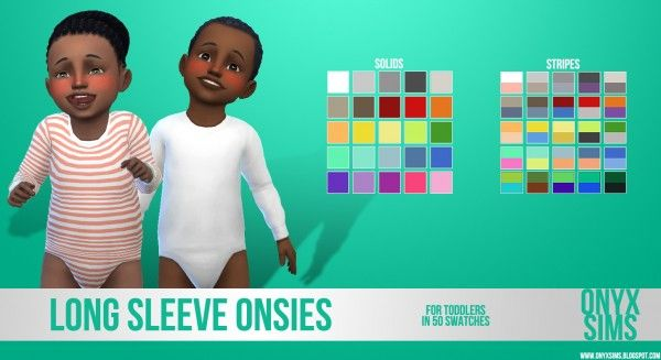 Onyx Sims: Long Sleeve Onsies for Toddlers • Sims 4 Downloads  Check more at http://sims4downloads.net/onyx-sims-long-sleeve-onsies-for-toddlers/