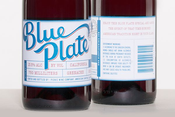 Label redesign for Blue Plate Wines | Jeni Olsen Design