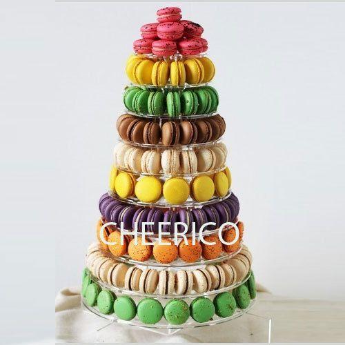 10 Tier Macaron Display Stand For French Macarons By Cheerico Macaron Stand Macaron Tower Macarons