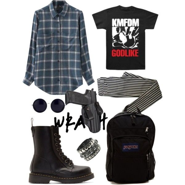 Eric Harris Dylan Klebold columbine inspired look style by williwonka on Polyvore featuring Chicnova Fashion, Topshop, Dr. Martens, JanSport and The Row