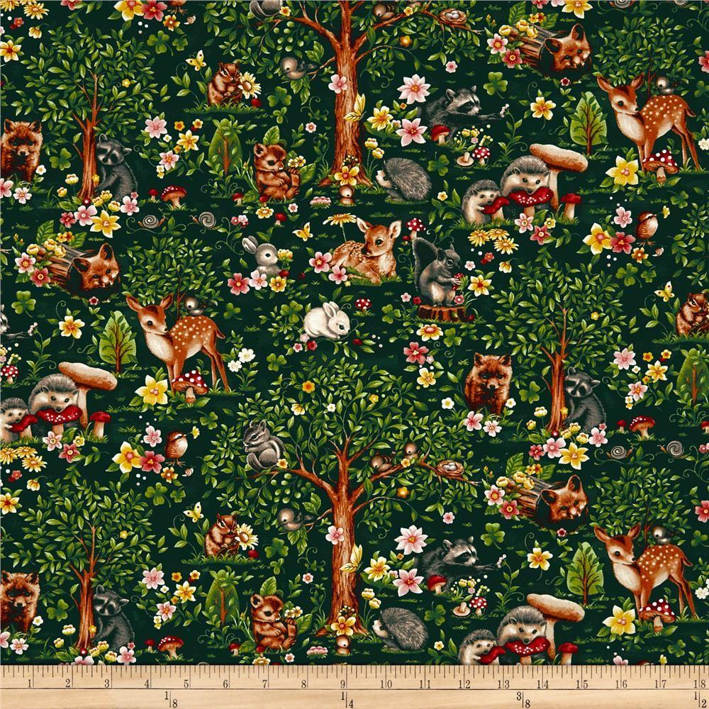 Block Flower fabric in grey 100/% cotton from /'Animal Bazaar/' by Michael Miller