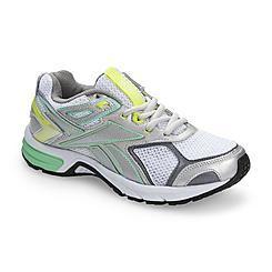 Reebok Women s Quickchase White Silver Running Shoe  ce1419b37