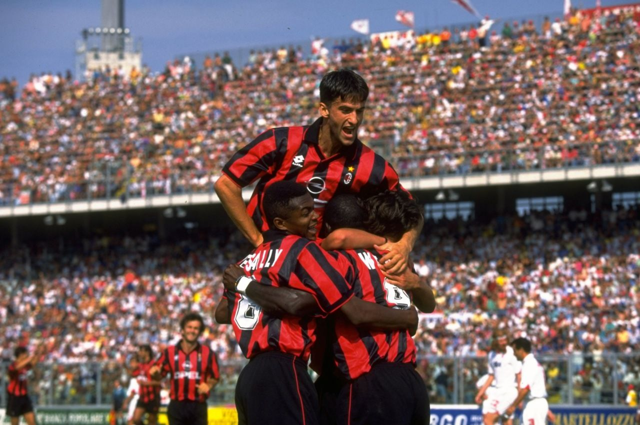 Christian Panucci Marcel Desailly & George Weah