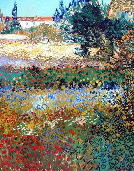 Vincent Van Gogh Post Impressionism Arles Jardin En Fleurs
