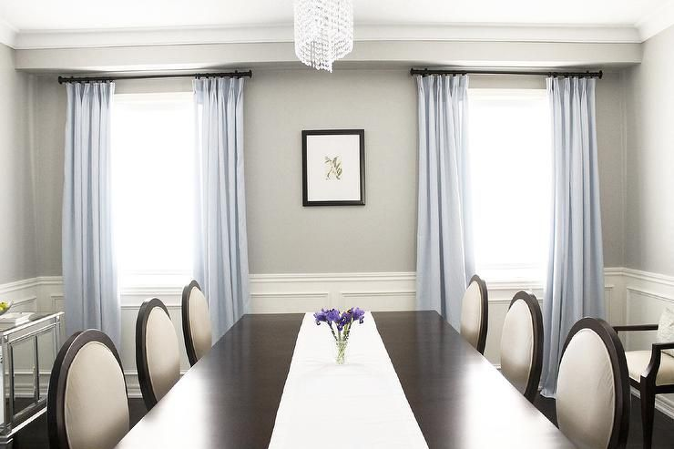 Dining Rooms   Benjamin Moore   Revere Pewter   Dining Room Double Pedestal  Mahogany Ding Table