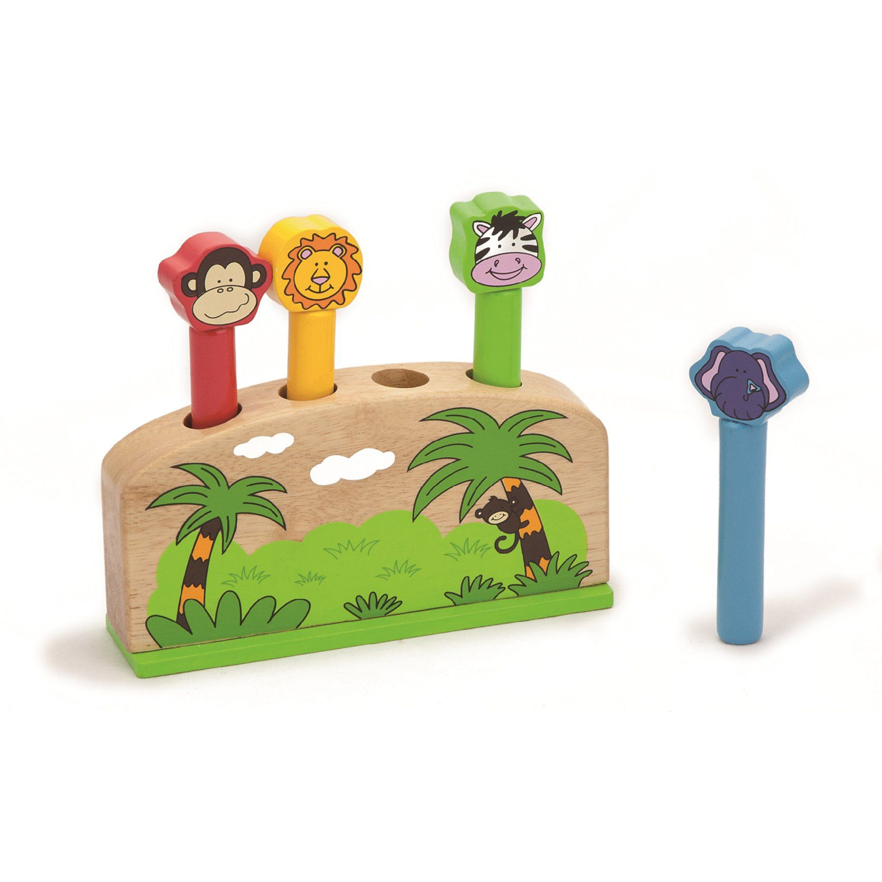 Viga Wooden Pop Up Jungle Animals 59790 Amazoncouk Baby