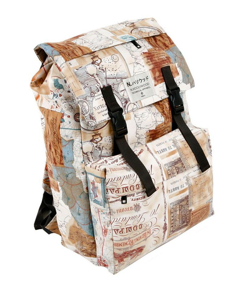 567dd53b2a Antique Map Vintage Style Backpack Men Women Travel Fashion Bookbag Rucksack