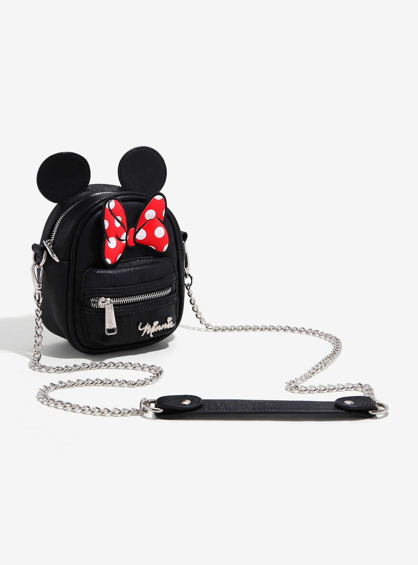 5b506bcb7bb7 Loungefly Disney Minnie Mouse Bow Ears Crossbody Bag - BoxLunch Exclusive,